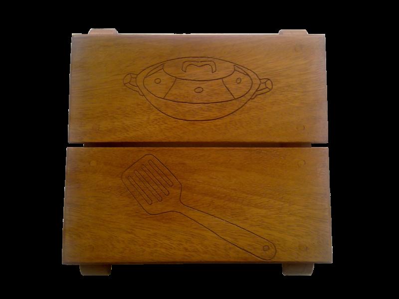 Dessous de plats en bois d coratifs petit bois brut fabriquant de meubles et objets en bois - Dessous de plat bois ...