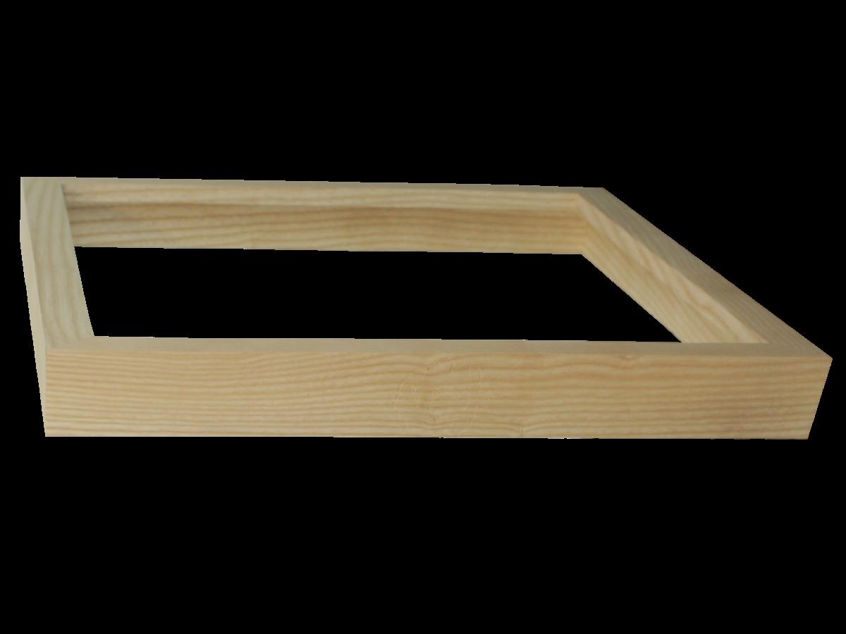 Cadre en bois elegant cadre en bois with cadre en bois for Cadre de lit king plate forme ikea