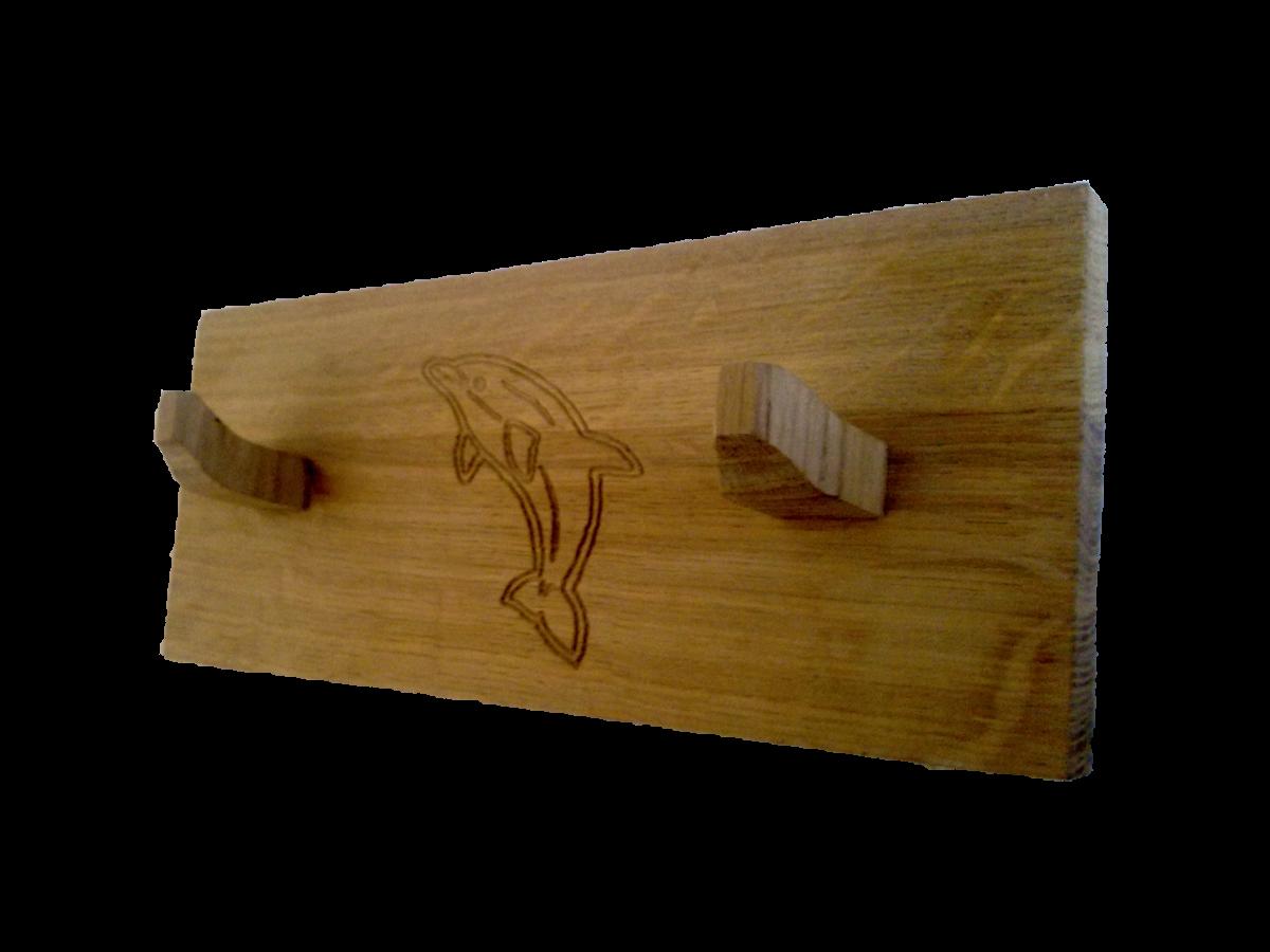 Accroche torchons serviettes en ch ne petit bois brut for Accroche serviette de table