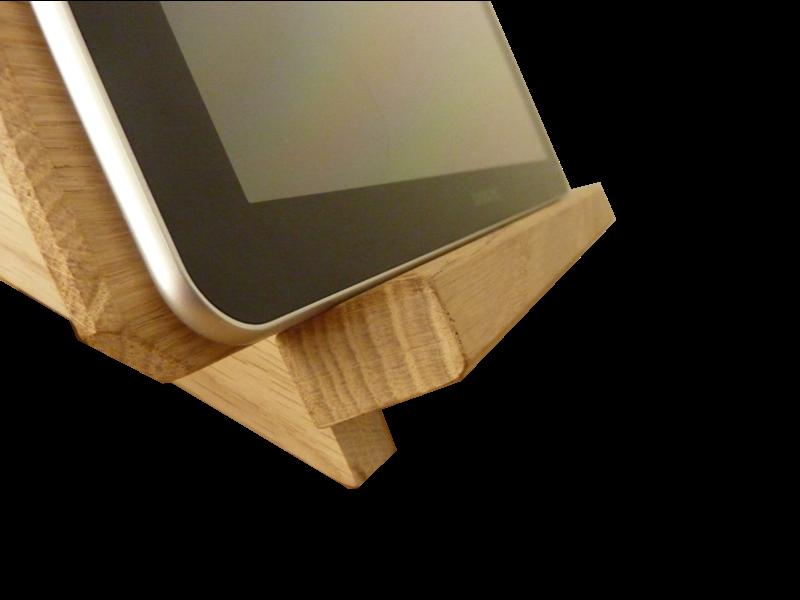 Support pour tablette tactile petit bois brut for Support tablette tactile cuisine